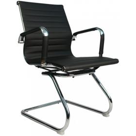 B110 Кресло на полозьях, экокожа / хром
